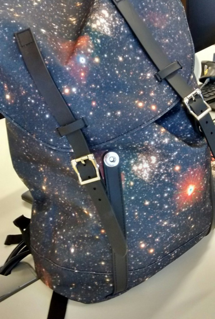 spiral bags galaxy print backpack