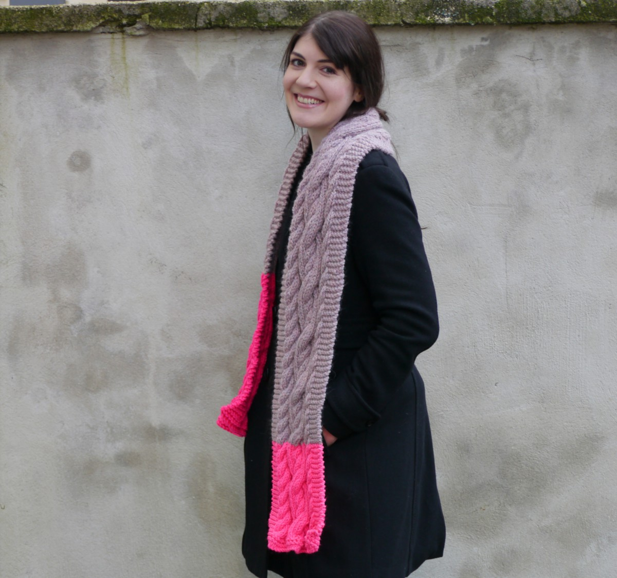 Chunky Cable Scarf | Drops pattern