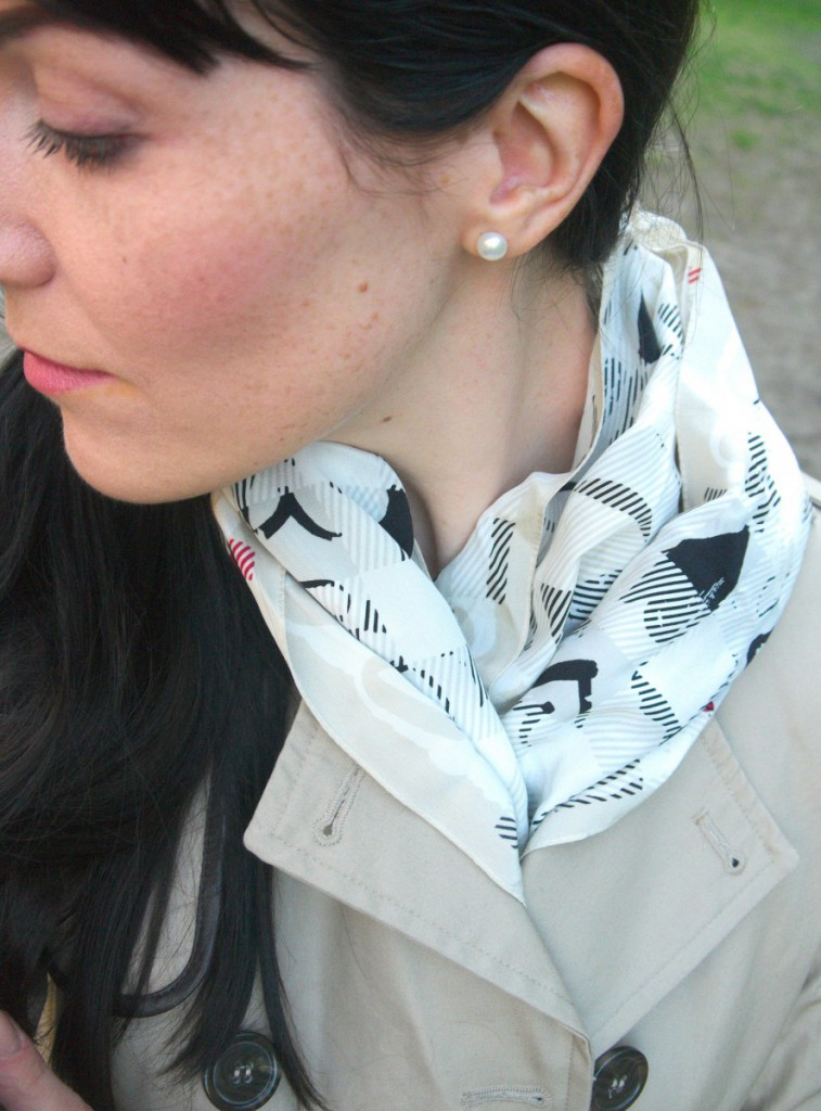 Burberry Heart Print Silk Scarf Ans Freckles