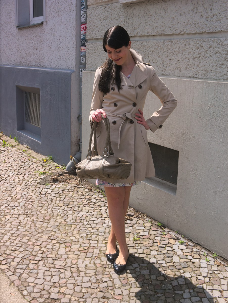 Promod Trenchcoat and Joop Cornflower Bag