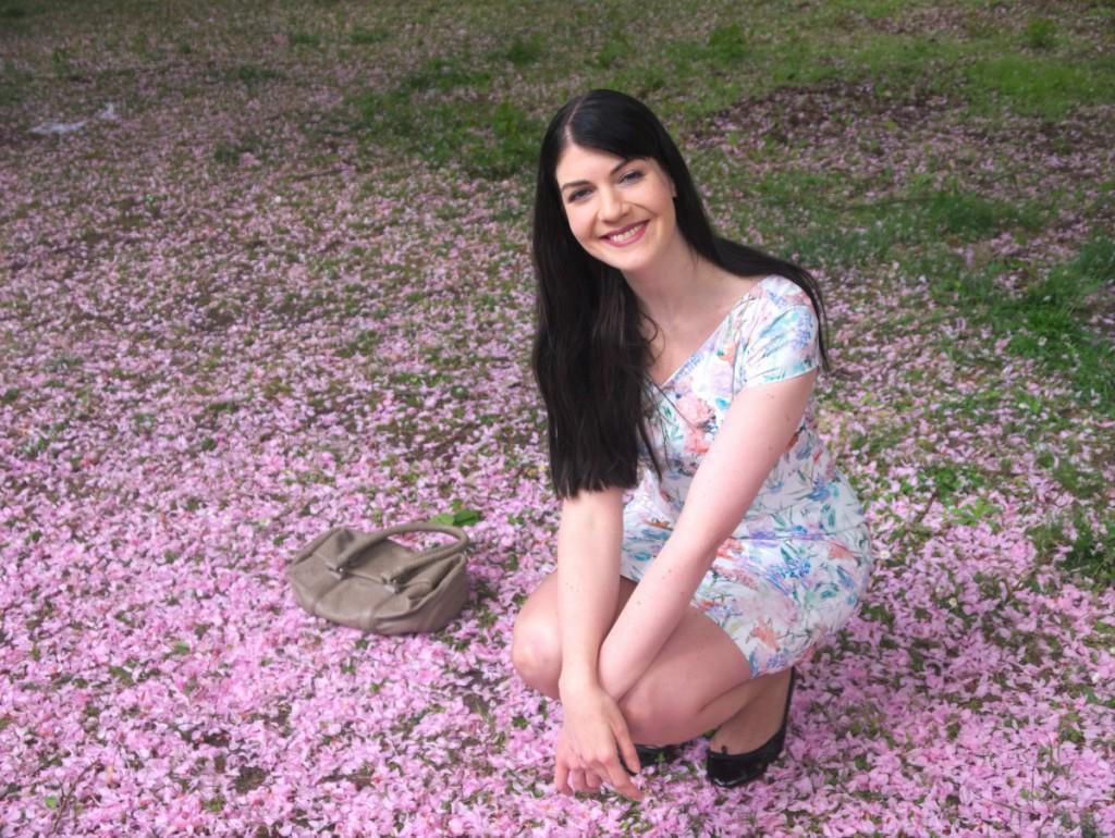 mint&berry floral dress and bloch ballerina flats