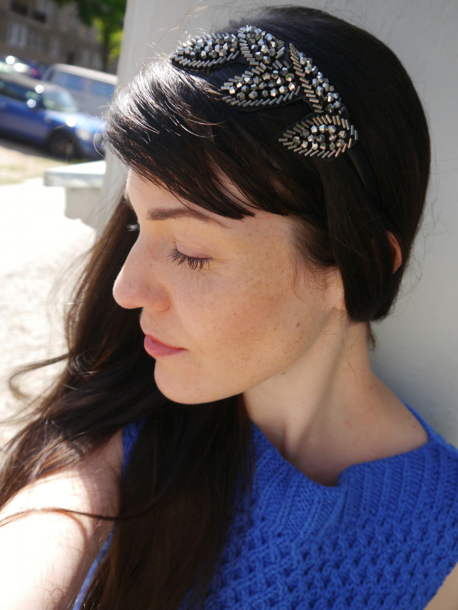 Flower headband | Handknit Top