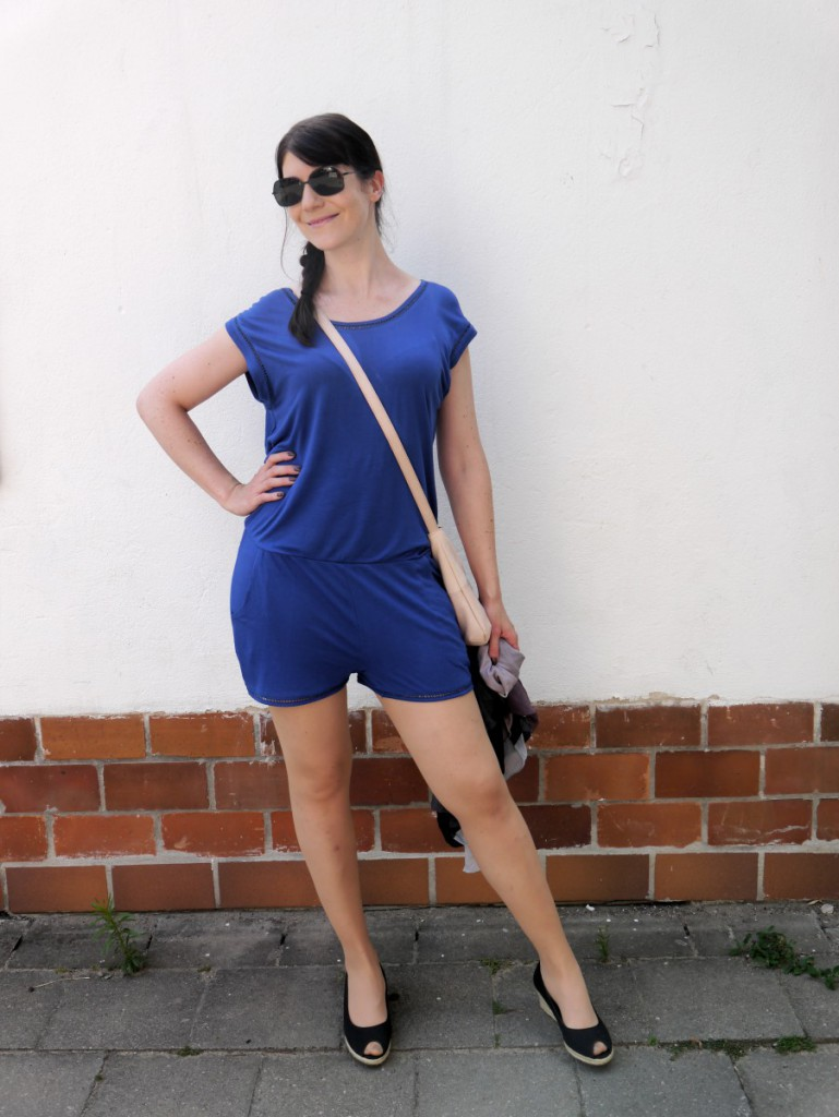 Blue Romper & Lacoste Shades