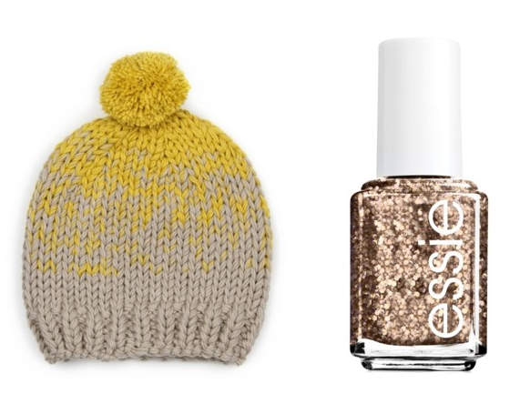 Ombré hat and Glitter Polish
