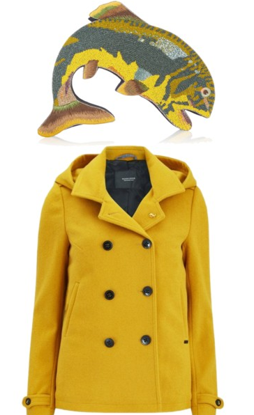 Yellow Coat and Fish Purse