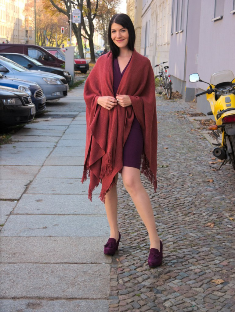 River Island rust cape | OOTD
