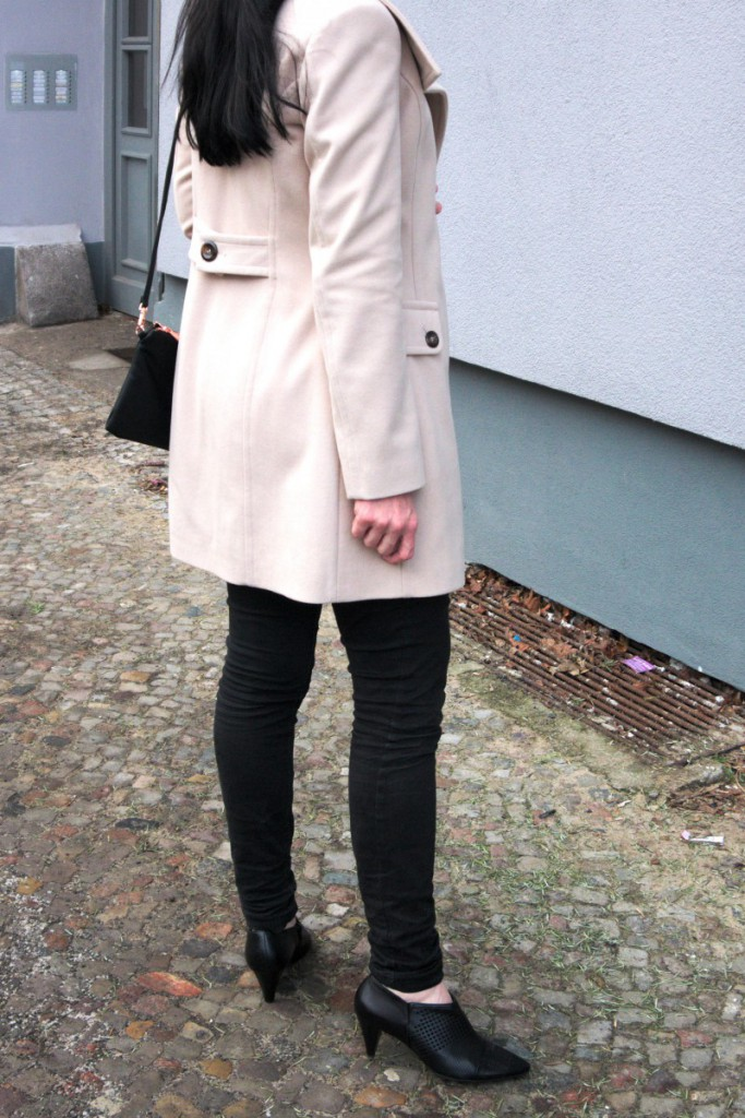 wool coat and ankle boots