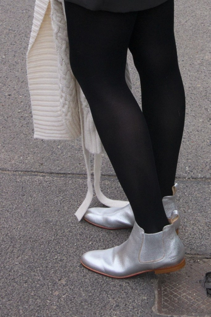Melvin & Hamilton silver chelsea boots