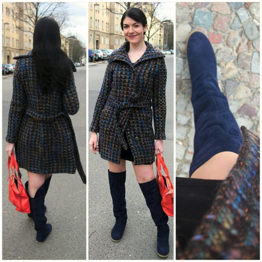70s bouclé coat