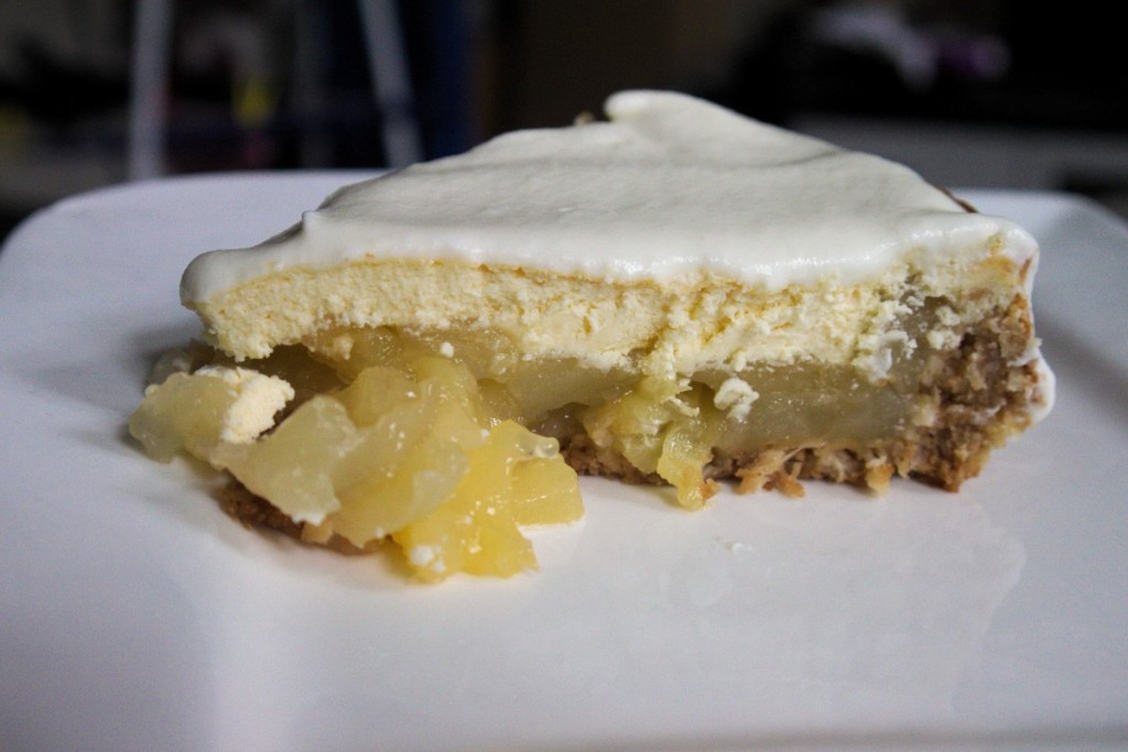 Pina Colada Pie close up