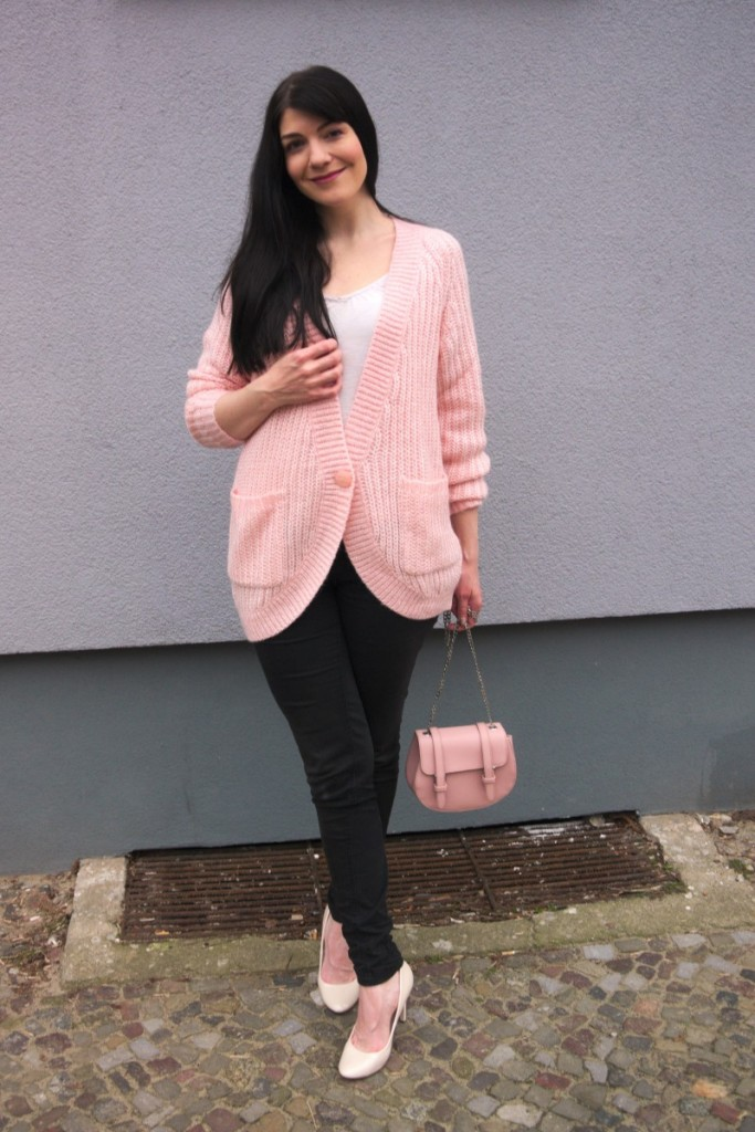 mint&berry cardigan in rose quartz