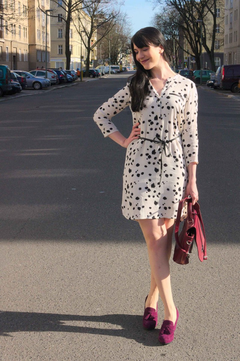 Dalmatian Print Shirt Dress II