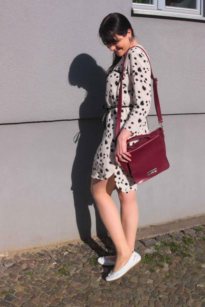 Dalmatian Print Shirt Dress
