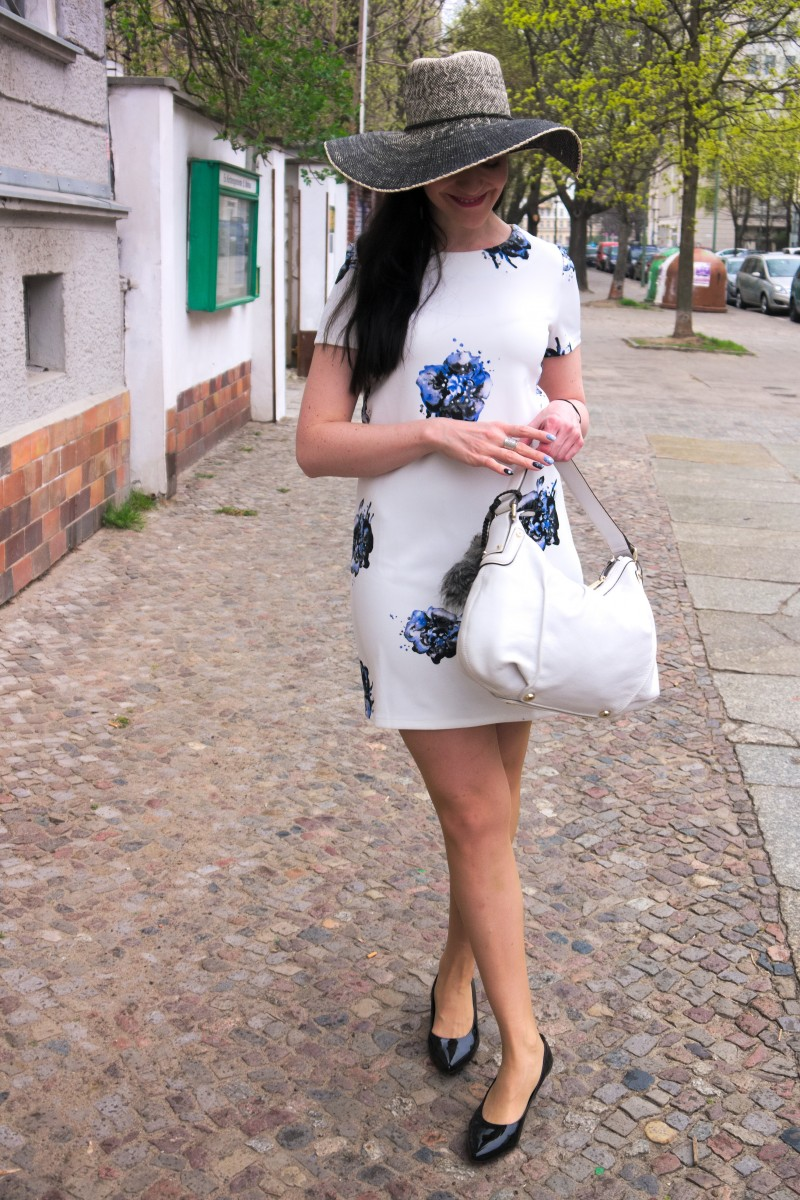vero moda blue flower summer dress