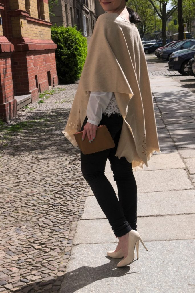 Fraas laser cut poncho and Boden pouch