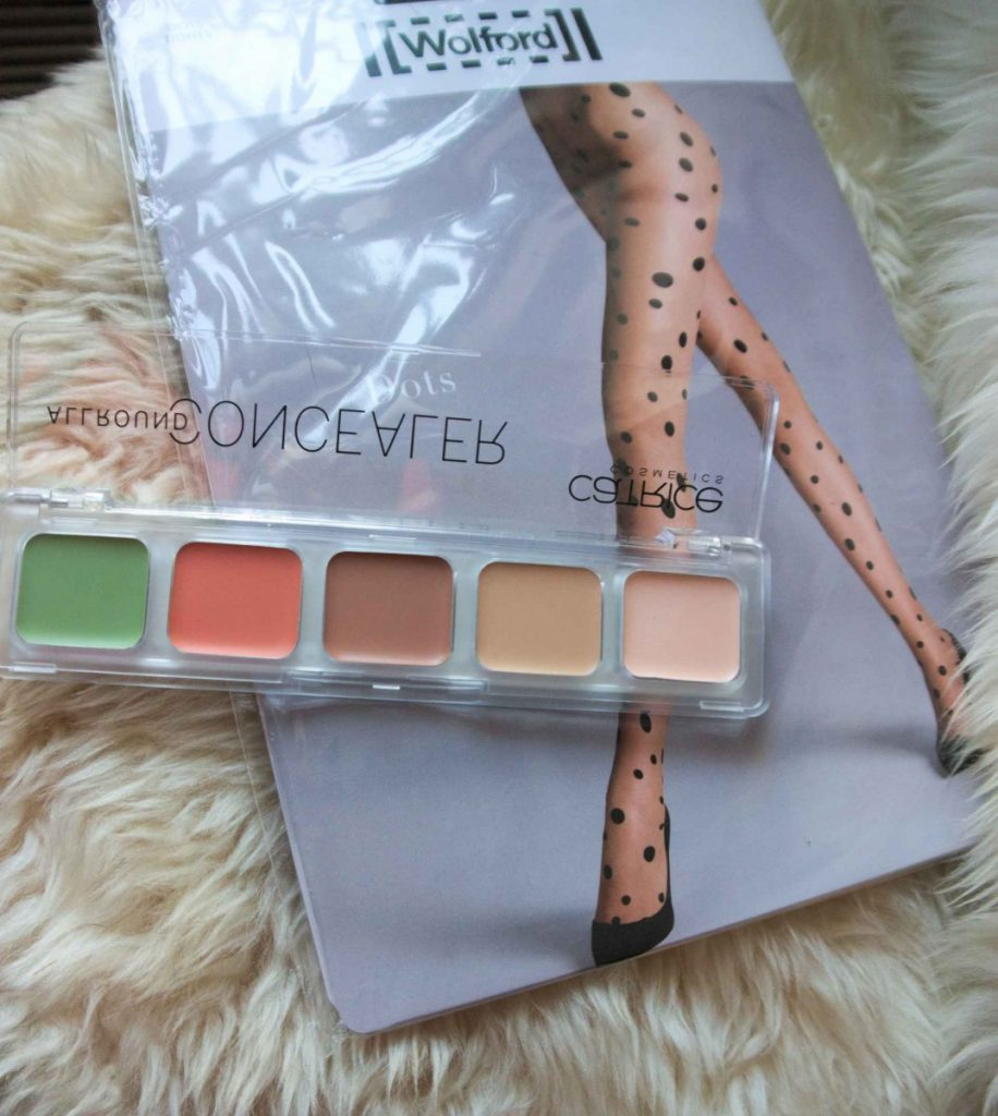 Wolford dotted tights and Catrice concealer 2
