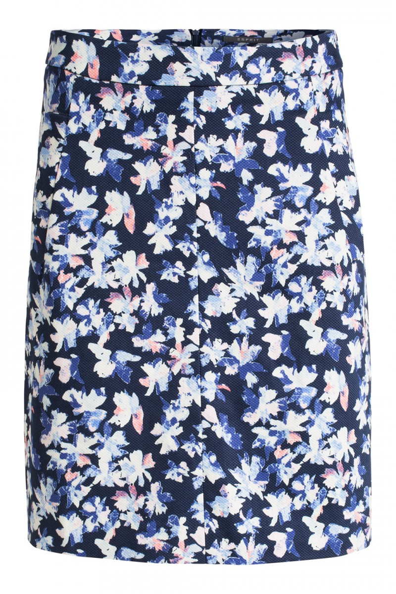 esprit textured print skirt