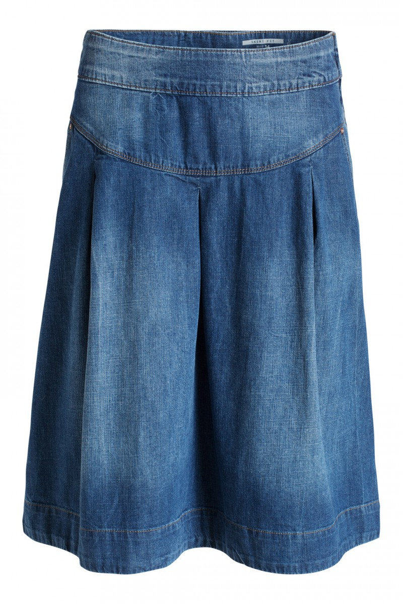 flared denim skirt esprit
