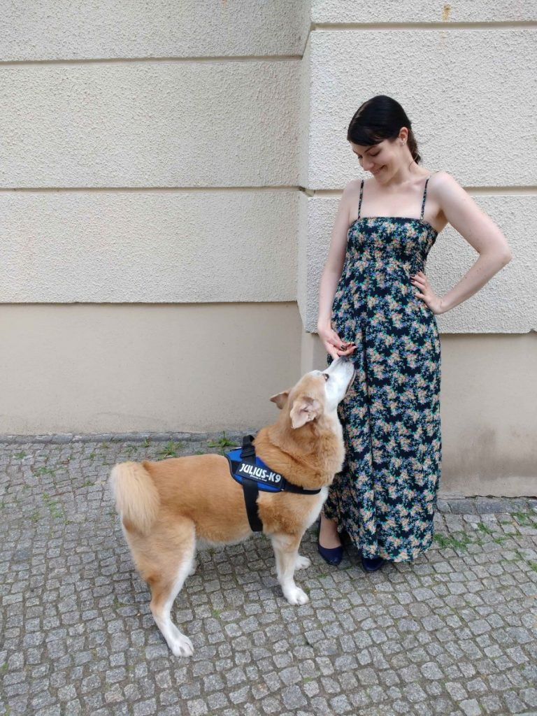 Floral Maxi Dress and Akita