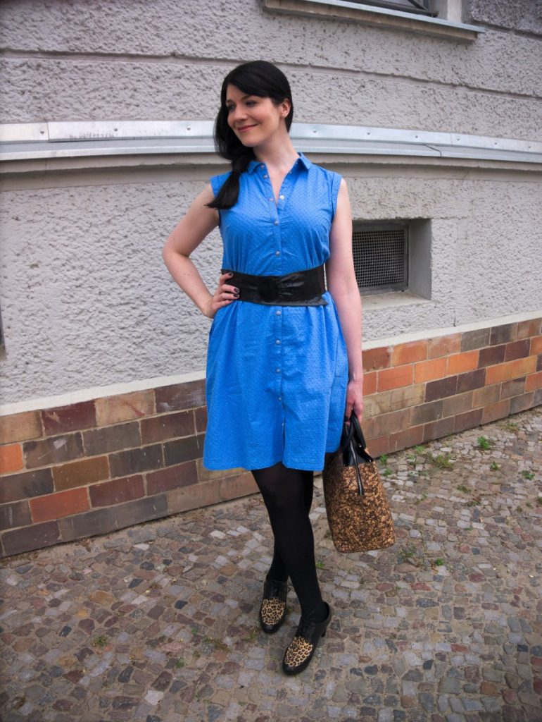light blue eyelet dress