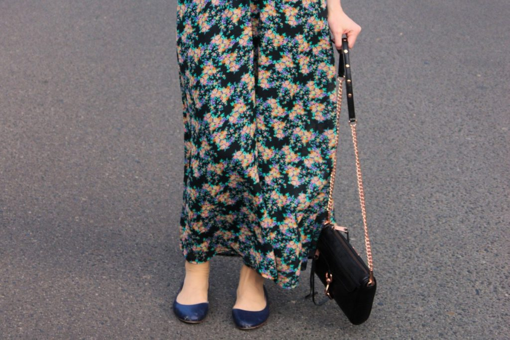 Floral Maxi Dress and Mini Mac