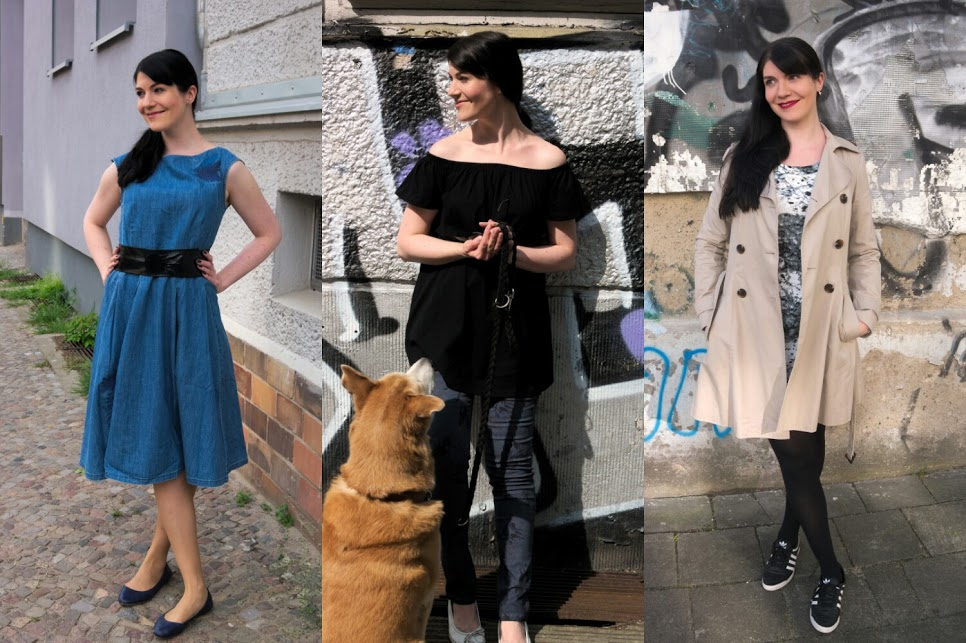 outfit recap may 2016 with denim midi dress