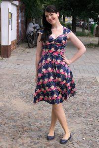 flamingo sixties style dress