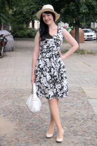 Rosegal black and white floral dress