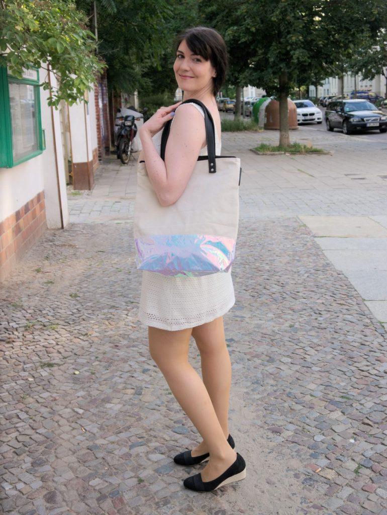 white ajour dress