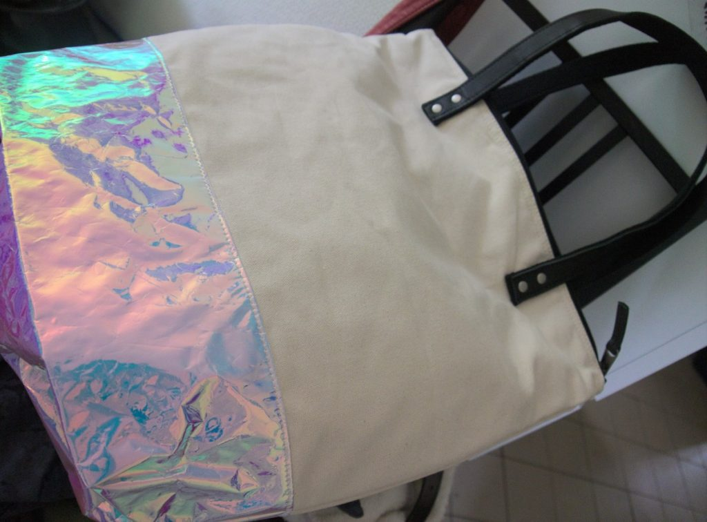 holographic canvas bag