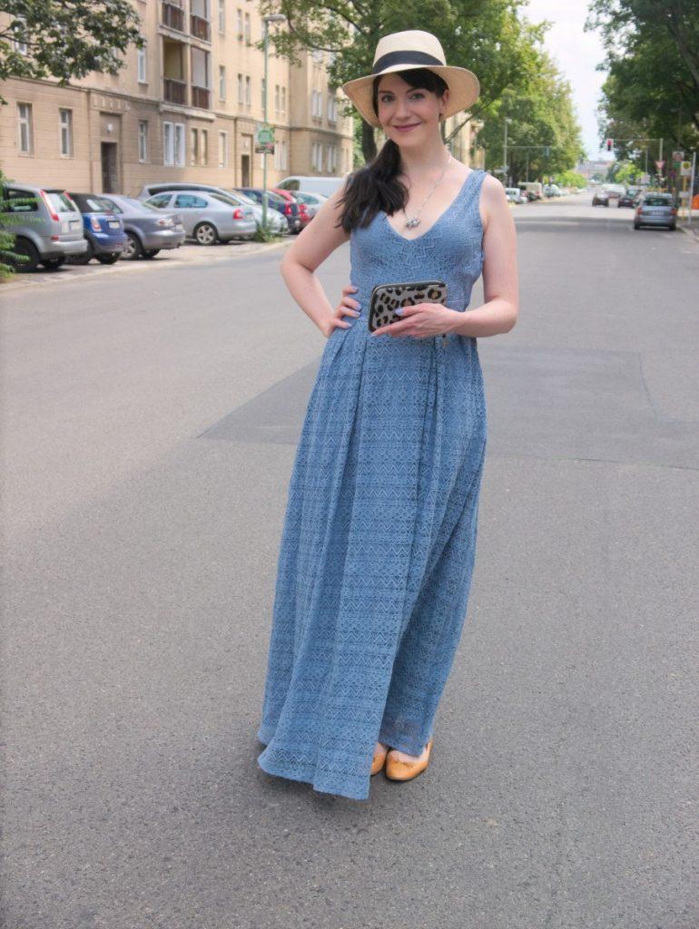 blue vintage lace dress