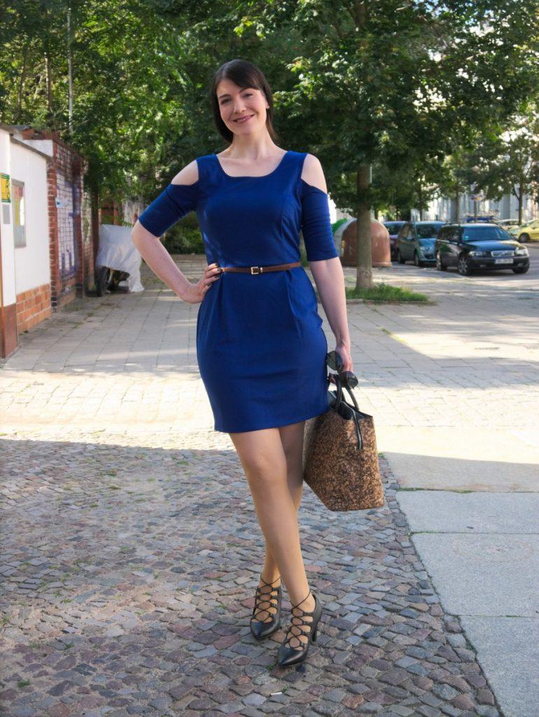 justfab cold-shoulder dress