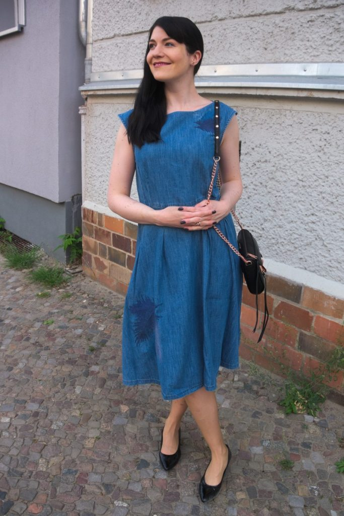 retro denim dress