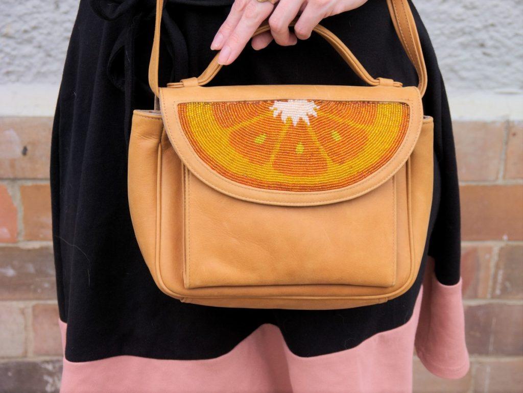 orange sarah's bag