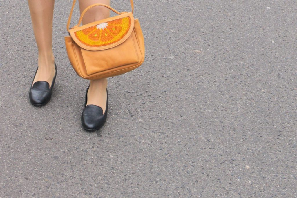 orange slice sarah's bag