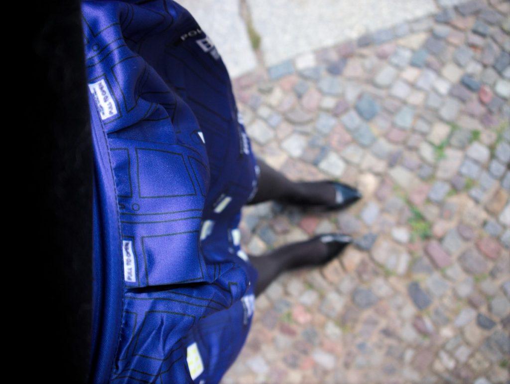 cobalt blue Tardis skirt