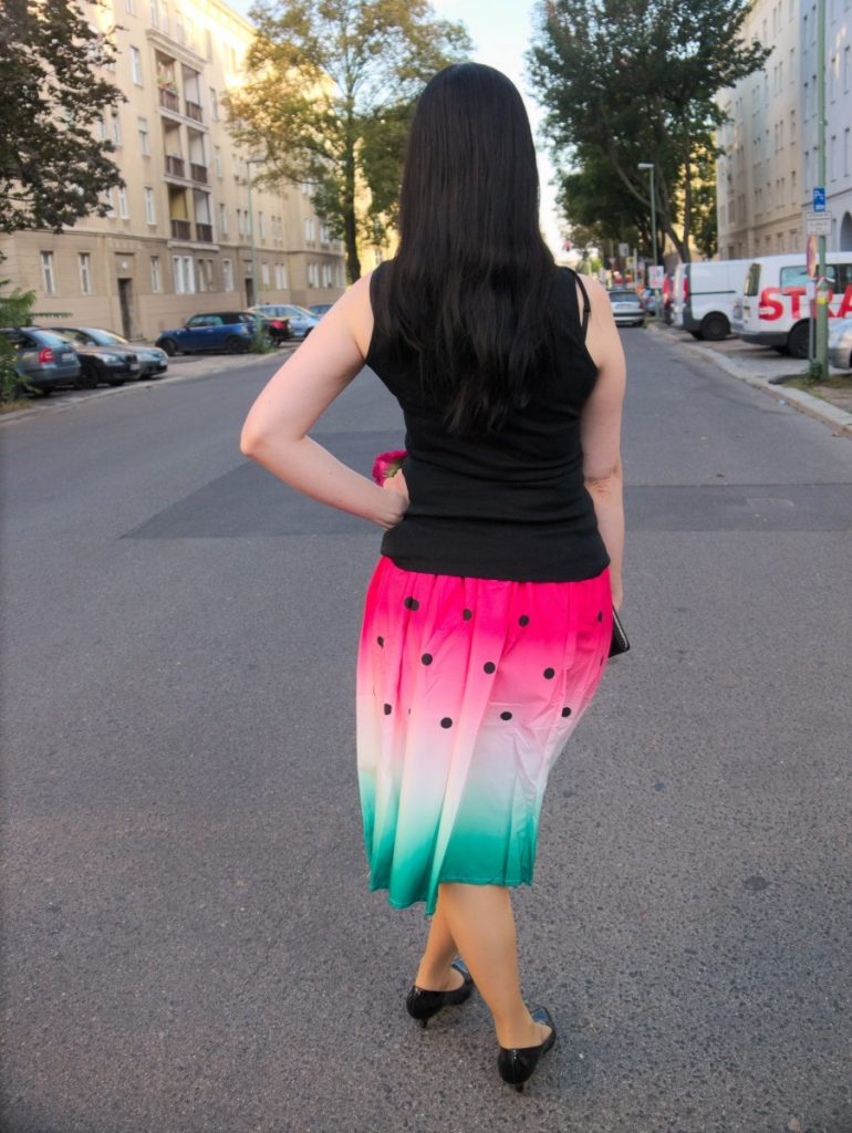 watermelon skirt outfit