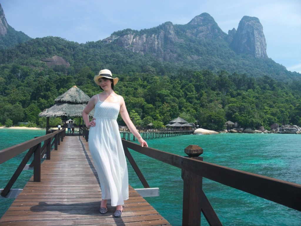white maxidress on Tioman Island