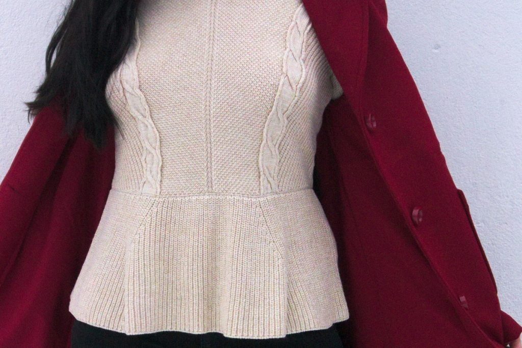 peplum cable jumper