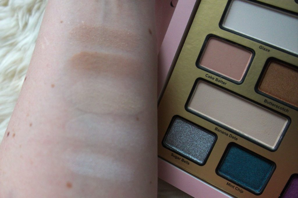 TooFaced The Chocolate Shop Palette nude swatches