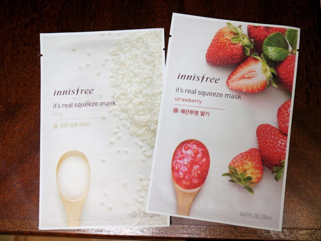 Korean Beauty Haul Caliope Couture Innisfree Real Squeeze Mask Strawberry Sheet