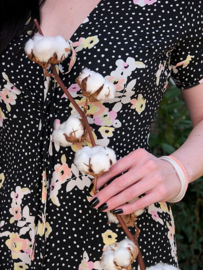 cotton branch and topshop floral dress