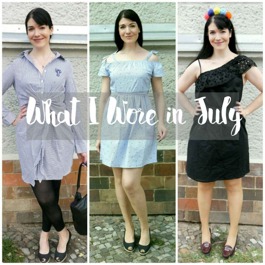 what I wore in July - outfits