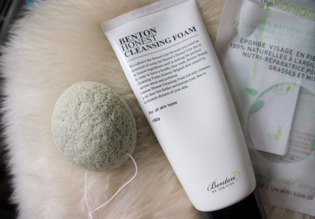 Asian Beauty Favorites - Konjac Sponge and Benton Honest Cleaning Foam